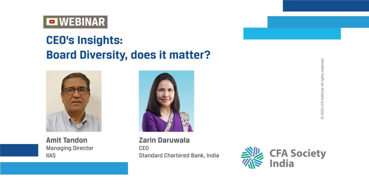 CEO's Insights: Board Diversity, does it matter? | Amit Tandon and Zarin Daruwala |